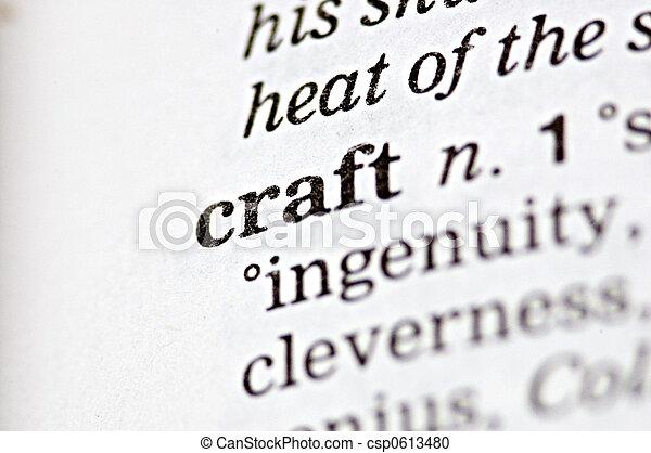 craft thesaurus
