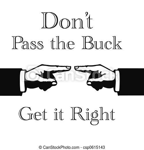 pass the buck sign - csp0615143