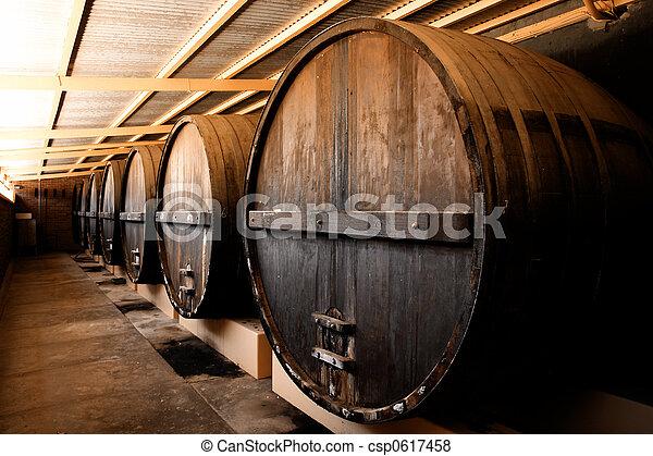 Winery Barrels - csp0617458