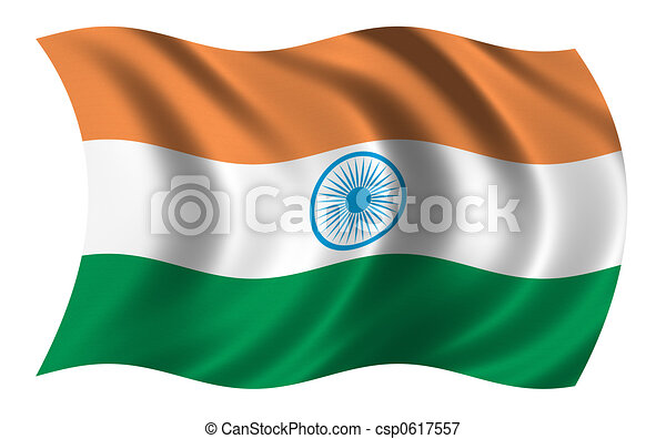 Flag of India - csp0617557