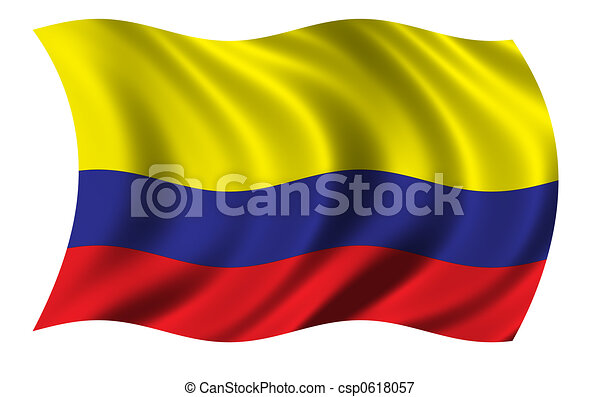Flag of Colombia - csp0618057
