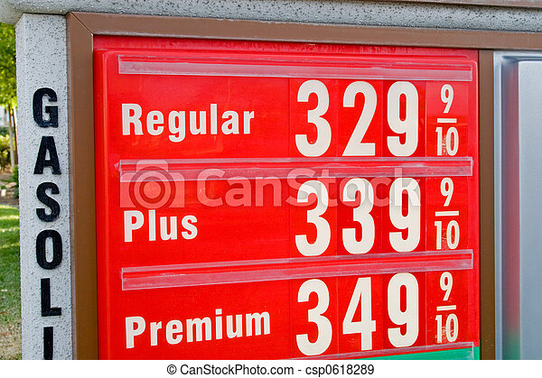 High Price of Gasoline - csp0618289