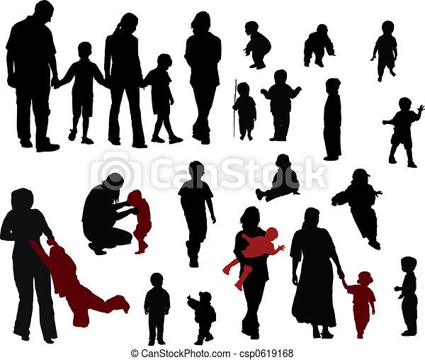 Family silhouettes - csp0619168