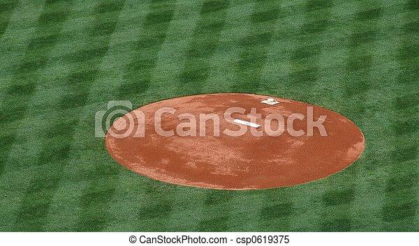 Baseball Pitchers Mound - csp0619375