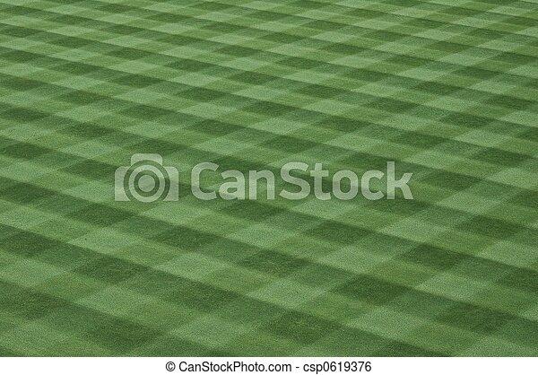 Baseball Field Grass Turf - csp0619376
