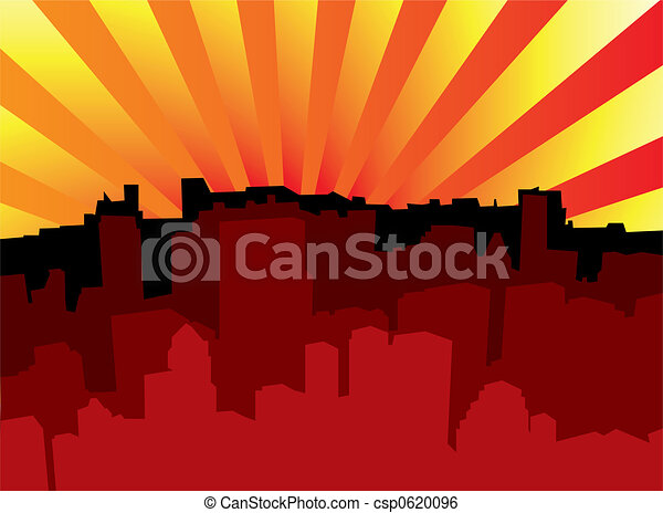 sunrise city scape - csp0620096