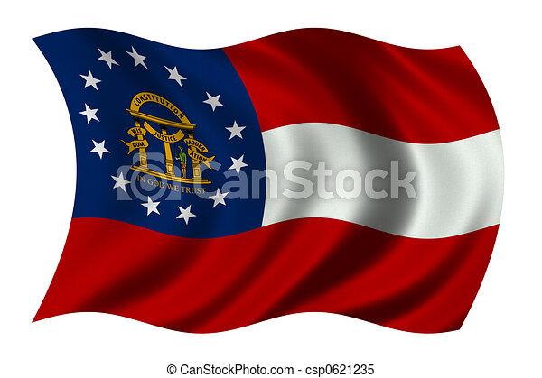 Georgia US State Flag - csp0621235