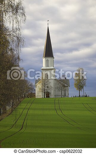 Church in a Field - csp0622032