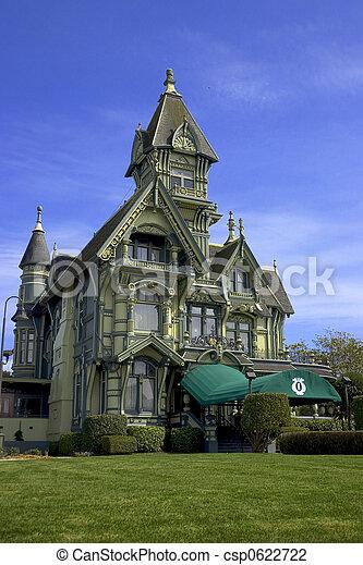 photo de victorien manoir les historique victorian era carson csp0622722 recherchez. Black Bedroom Furniture Sets. Home Design Ideas