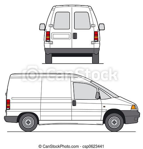 White Mini Van Clip Art