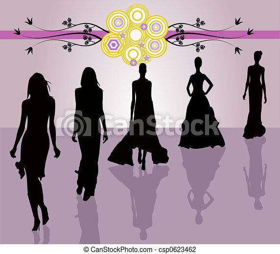 Fashion girls - ill - csp0623462