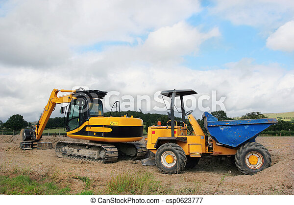 Digger and Dumper Truck - csp0623777