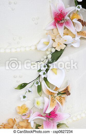 Fancy wedding cake detail - csp0627234