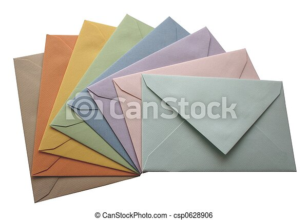 Colorful envelopes - csp0628906