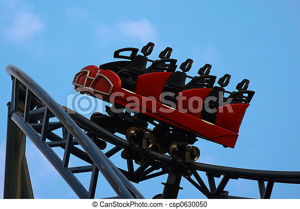 Stock Photography of rollercoaster - empty rollercoaster ...