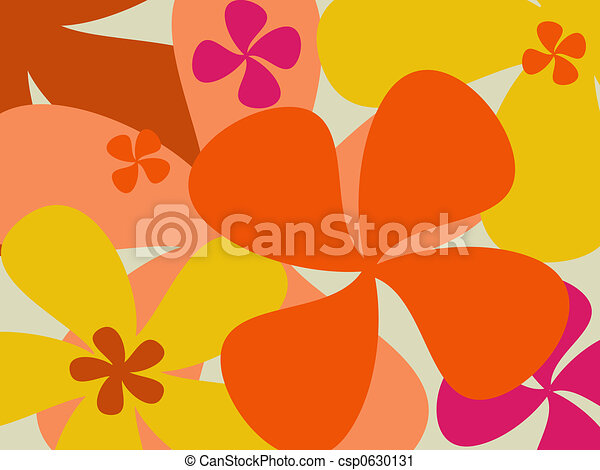 Retro flower background - csp0630131