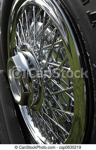 spoked chrome wheel - csp0630219