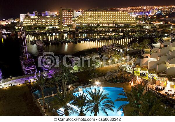 The Israeli night summer in Eilat - csp0630342