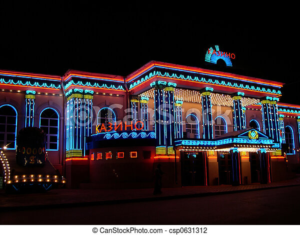 casino lights moscow - csp0631312