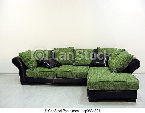 green sofa - csp0631321