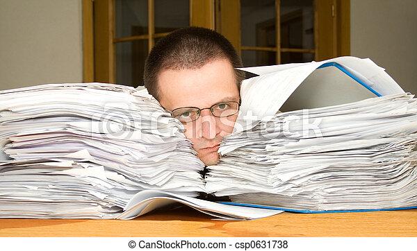 Too much paperwork - csp0631738