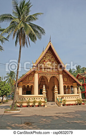Laos temple - csp0632079