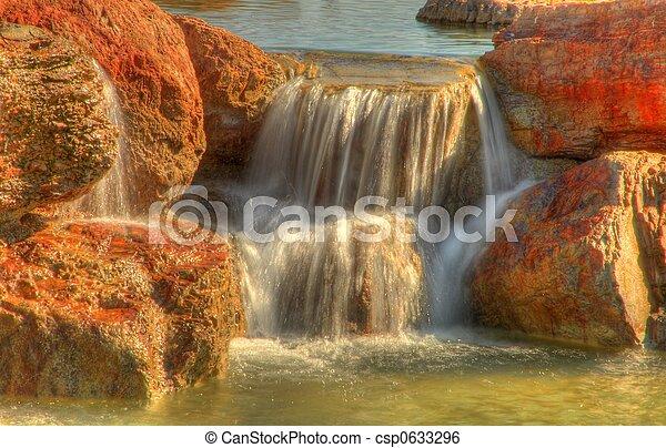 pequeño, cascada - csp0633296