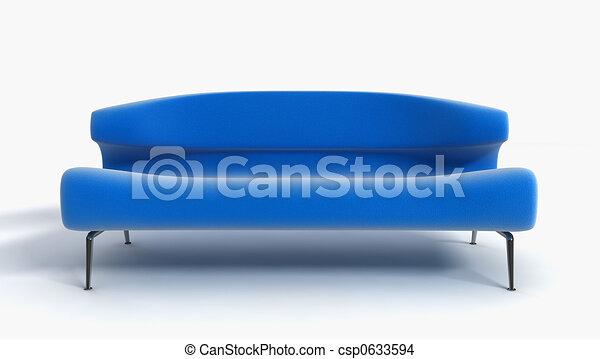 sofa 3D rendering - csp0633594