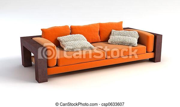 sofa 3D rendering - csp0633607
