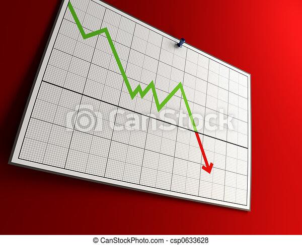 falling graph - csp0633628