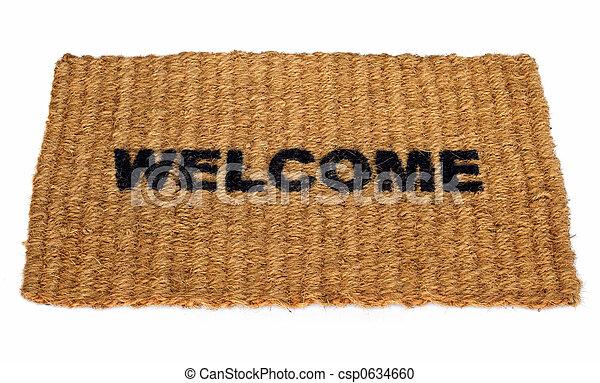 benvenuto, stuoia - csp0634660