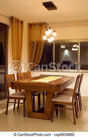 dinner table - csp0634665