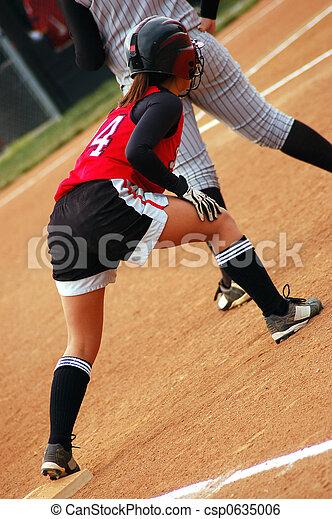 Softball player - csp0635006