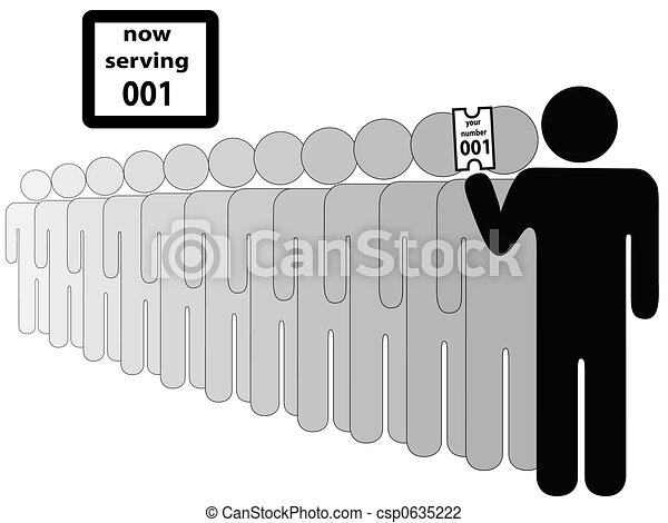 Person First in Line - csp0635222