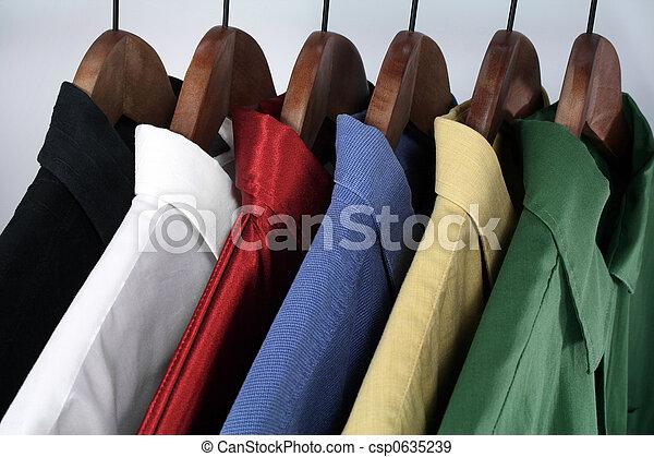 Choice of colorful shirts - csp0635239