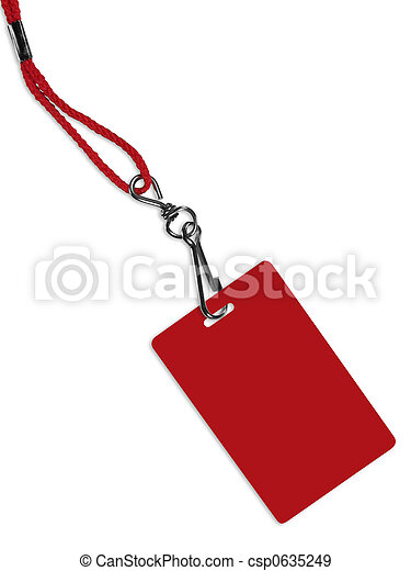 Blank red ID card - csp0635249