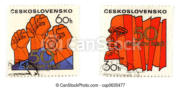 Communism concepts from Czechoslovakia - csp0635477
