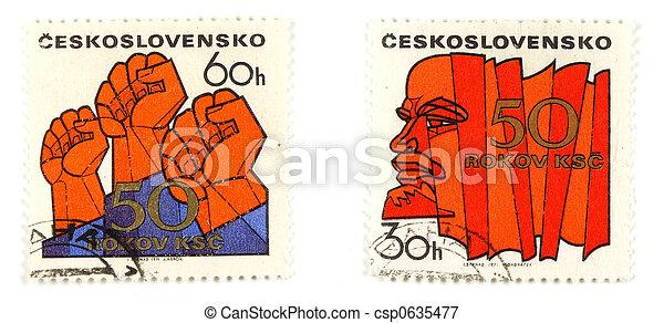 Communism concepts from Czechoslovakia - csp0635477