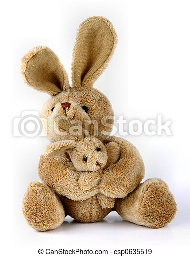 brinquedo, coelhinho, coelho,  cuddly - csp0635519