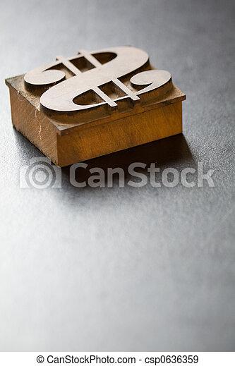 Antique Dollar Typeface - csp0636359