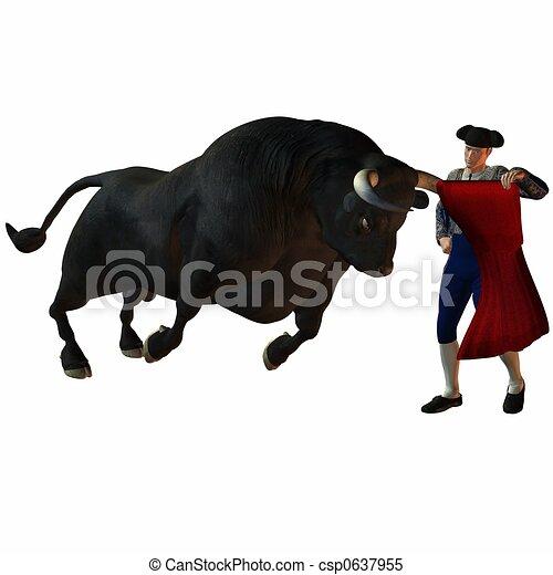 Stock Illustration - Bullfight - stock ...