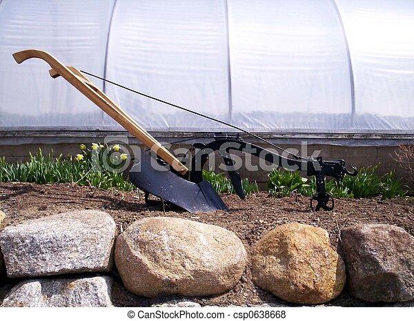 antique plow - csp0638668