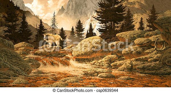 Mountain Goat - csp0639344