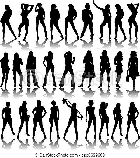 sexy ladies shadow - csp0639603