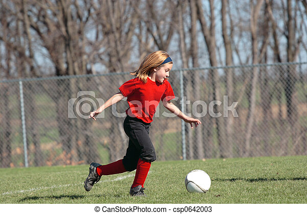 Girl on Soccer Field 7 - csp0642003