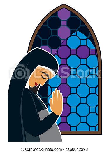 orando, mulher - csp0642393
