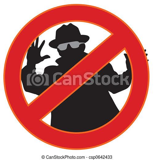 no spyware symbol - csp0642433