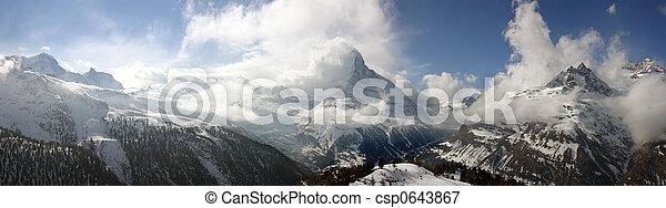 Swiss alpine panorama - csp0643867