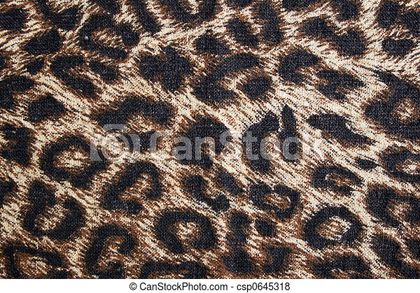 Leopard spotted fabric background - csp0645318