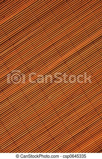 Oriental rattan mat texture - csp0645335